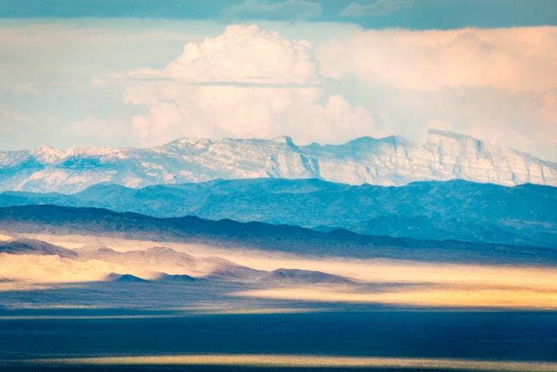 DSC0121 Stripes of Light on the Desert - from Great Basin National Park Nevada