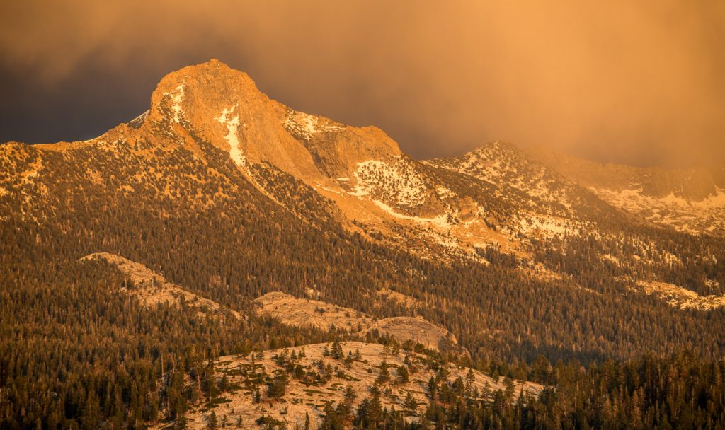Amazing evening light in Yosemite National Park